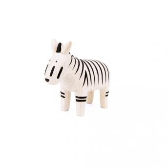 "Wooden zebra ""Pole Pole"""