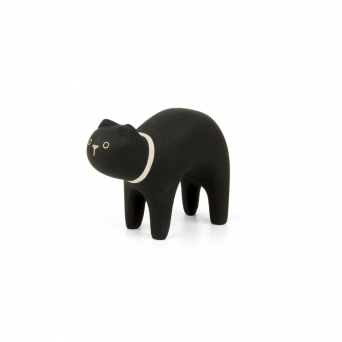 "Wooden black cat ""Pole Pole"""