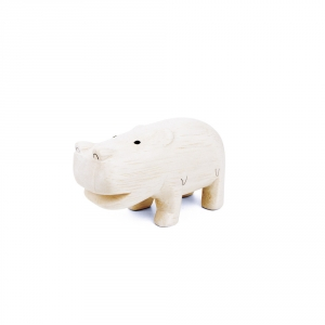 "Hippopotame en bois ""Pole Pole"""