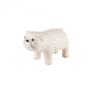 "Bulldog en bois ""Pole Pole"""