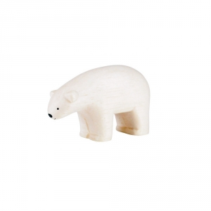 "Wooden polar bear ""Pole Pole"""