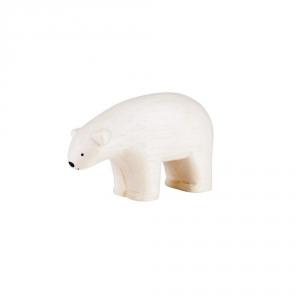 "Wooden white bear ""Pole Pole"""