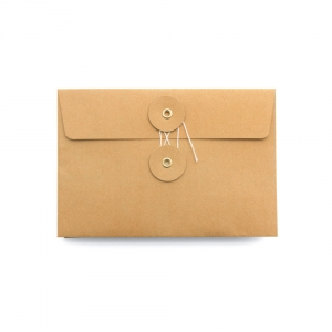 Set of 8 orange kraft envelopes - M
