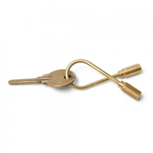 Closed Helix brass keyring
