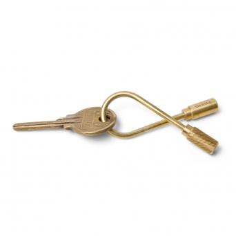Closed Helix brass keyring