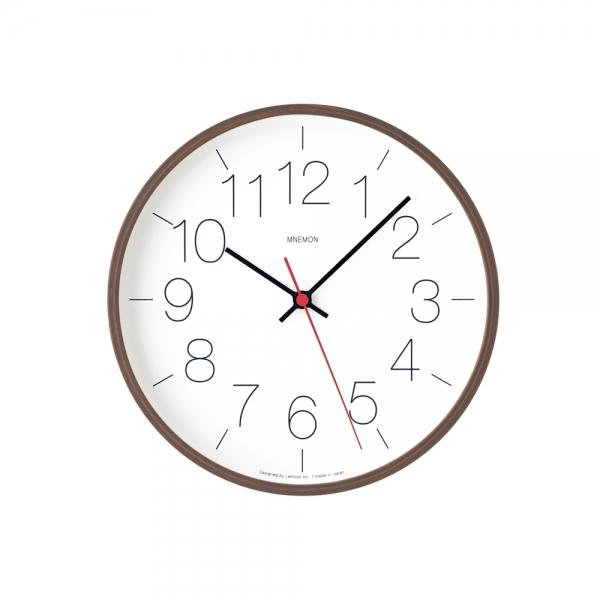 """Horloge murale """"mnemon"""" - brun"""