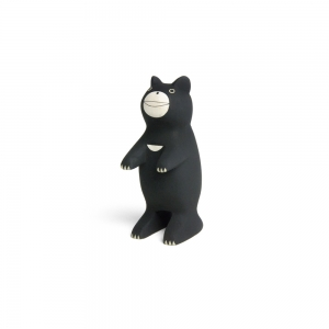 "Wooden black bear ""Pole Pole"""