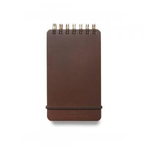Carnet de poche - cuir marron foncé