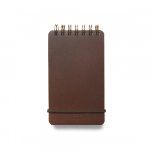 GRAIN little notebook - Brown leather