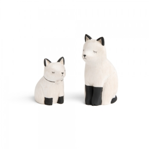 """Cat family en bois """"Pole Pole"""""""