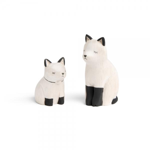 """Famille chat en bois """"Pole Pole"""" - t-lab"""