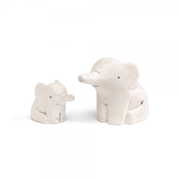 "Famille elephant en bois ""Pole Pole"" - t-lab"
