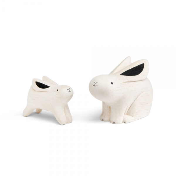 "Rabbit family en bois ""Pole Pole"""
