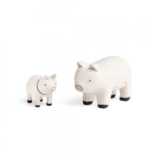 """Famille cochon en bois """"Pole Pole"""" - t-lab"""