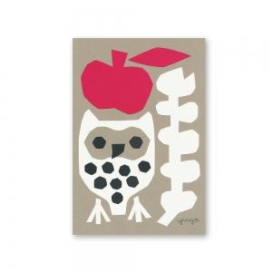 Carte postale Kirie - Hibou