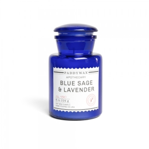 "Candle ""Blue Apothecary""- Blue sage & Lavender"