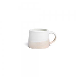 Petit mug 110 ml - blanc & rose poudre