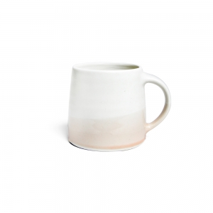 Mug 320 ml - white & powdered rose