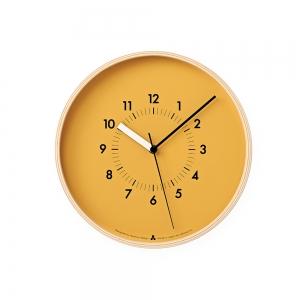 "Horloge murale ""AWA"" - Jaune - LEMNOS"