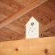 "Horloge ""Birdhouse"" - bois - Lemnos"