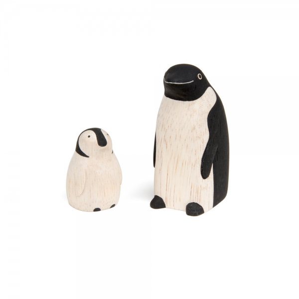 "Famille pingouin en bois ""Pole Pole"" - t-lab"