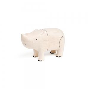 """rhinoceros en bois """"Pole Pole"""" - t-lab"""