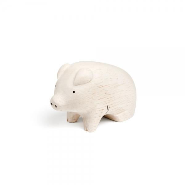 "Cochon en bois ""Pole Pole"" - t-lab"