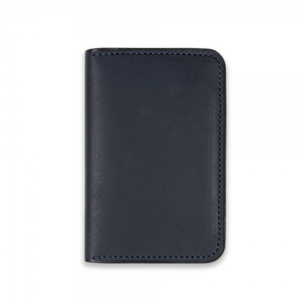 Bifold card holder - Navy Baranil