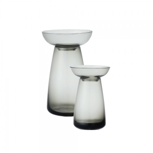 Aquaculture grey glass vase - 2 sizes available