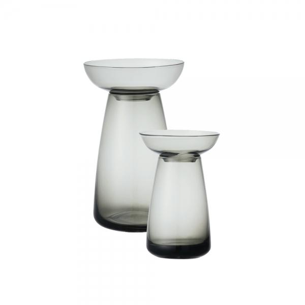 Aquaculture grey glass vase - 2 sizes available