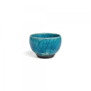 Turquoise raku bowl - XS