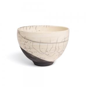 White raku bowl - L