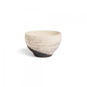 White raku bowl - S