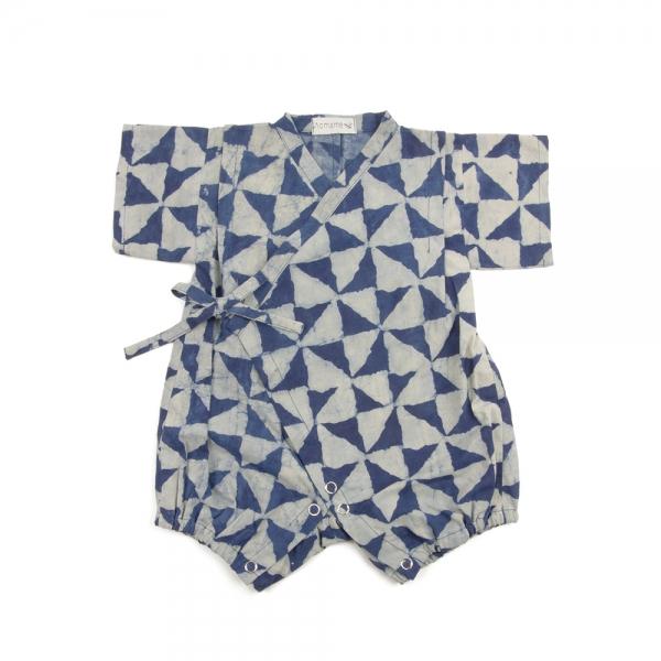 Jinbei bébé - Sankaku indigo - Aomamé