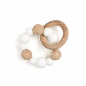 Teething ring - White