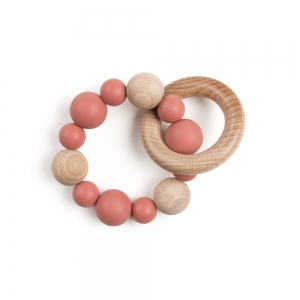 Teething ring - Earthy red