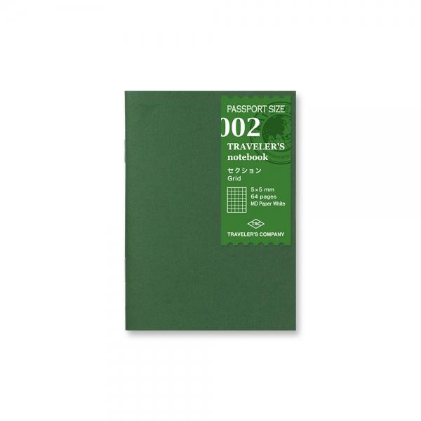 Traveler's Notebook 002 - carnet carreaux ( passeport ) - Traveler's Company