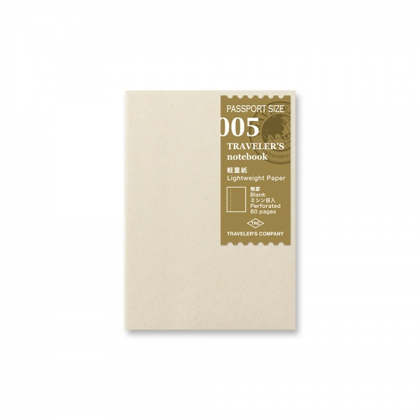 Traveler's Notebook 005 - carnet papier fin ( passeport ) - Traveler's Company