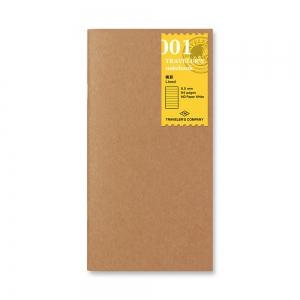 001 - carnet ligné ( classique ) Traveler's Notebook - Traveler's Company