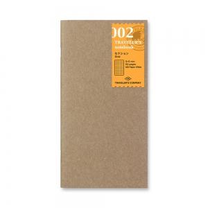 002 - Carnet carreaux ( classique ) Traveler's Notebook