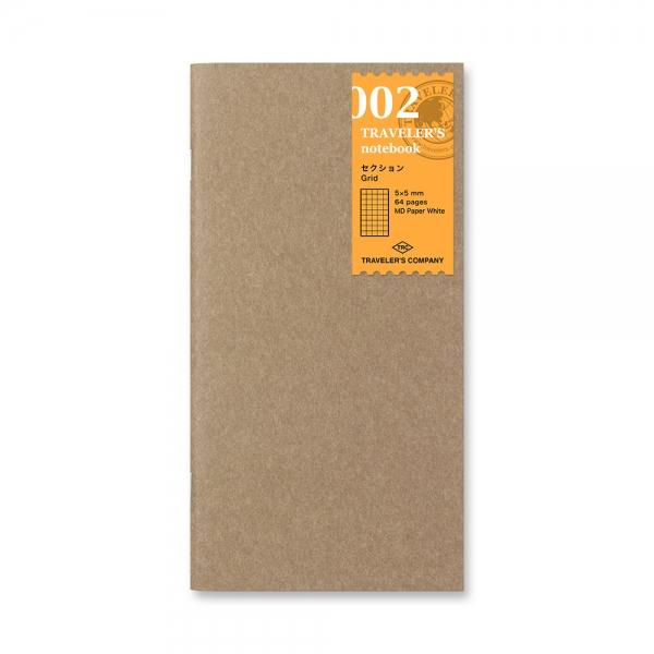 002 - carnet carreaux ( classique ) Traveler's Notebook - Traveler's Company