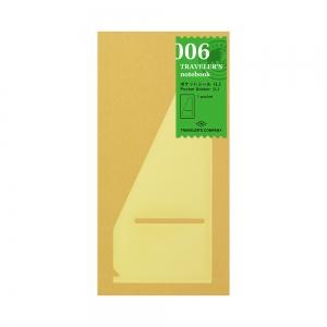 006 grande pochette adhésive ( classique ) - Traveler's Notebook