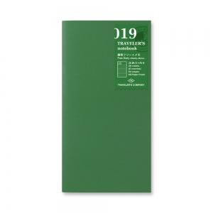 019 Semainier + carreaux ( classique ) - Traveler's Notebook - Traveler's Company