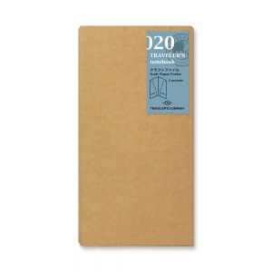 020 - Kraft paper folder (regular) Traveler's Notebook