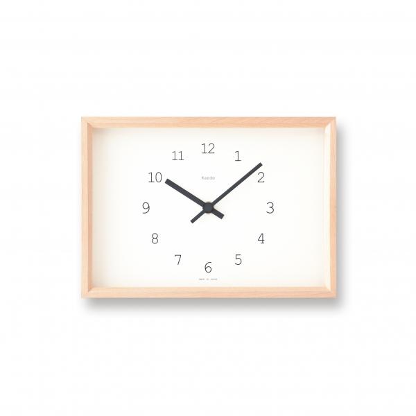 "Horloge rectangulaire ""Kaede"" - Lemnos"