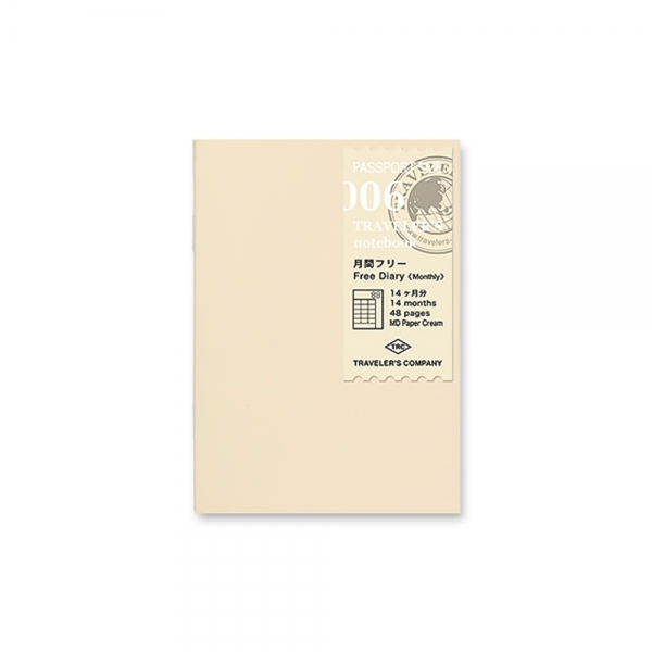 006 - Monthly planner ( passport ) Traveler's Notebook