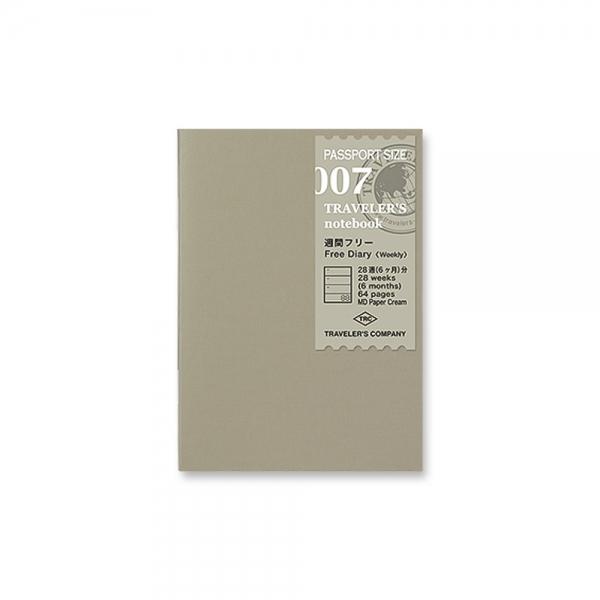 007 - Weekly free diary ( passport ) Traveler's Notebook