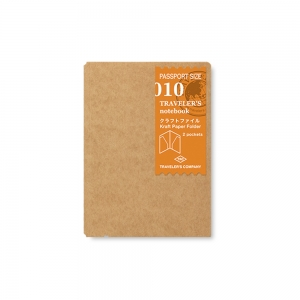 010 - Pochette kraft ( passeport ) Traveler's Notebook - Traveler's Company