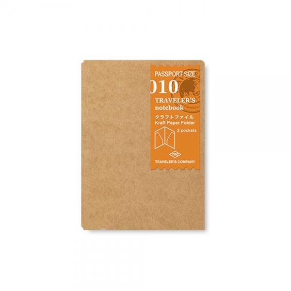 010 - Pochette kraft ( passeport ) Traveler's Notebook - Traveler's Company