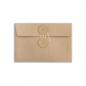 Set of 8 kraft envelopes - M